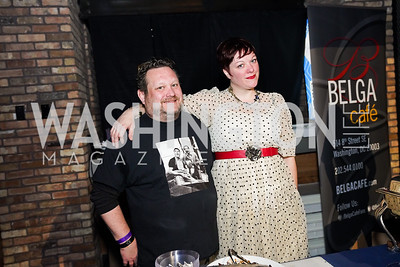 Pesce Chef & Owner Andrew LaPorta, Sarah White. Photo by Tony Powell. 2020 St. Jude's Gourmet Gala. The Anthem. February 27, 2020