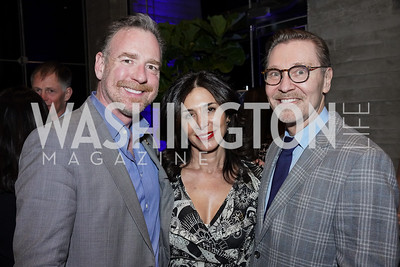 Chris Morrison, Afsaneh Tabrizian, Michael Olding. Photo by Tony Powell. 2020 St. Jude's Gourmet Gala. The Anthem. February 27, 2020