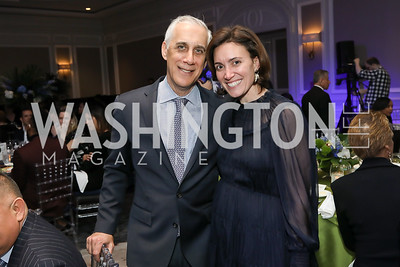David Perlin, Stephanie Kapsis. Photo by Tony Powell. 10th Annual Teach for America Gala. Ritz Carlton. February 26, 2020