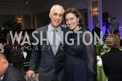 David Perlin, Stephanie Kapsis. Photo by Tony Powell. 10th Annual Teach for America Gala. Ritz Carlton. February 26, 2020