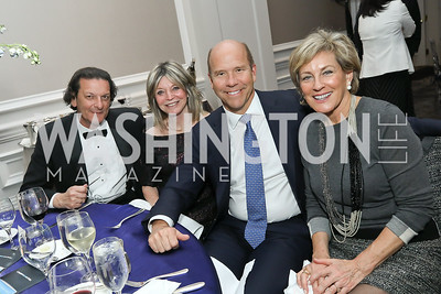 Pierre de Lucy, Kay Kendall, John Delaney, Marcie Cohen. Photo by Tony Powell. 10th Annual Teach for America Gala. Ritz Carlton. February 26, 2020