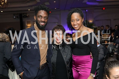 Elorm Avakame, Sheila Johnson, Kimberly Branch. Photo by Tony Powell. 10th Annual Teach for America Gala. Ritz Carlton. February 26, 2020