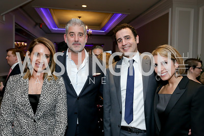 Tara and Jarrod Patten, Ali and Erin Fardshisheh. Photo by Tony Powell. 10th Annual Teach for America Gala. Ritz Carlton. February 26, 2020