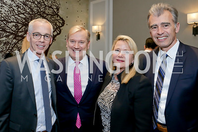 Peter Shields, Mark and Lyn McFadden, Ace Werner. Photo by Tony Powell. 10th Annual Teach for America Gala. Ritz Carlton. February 26, 2020