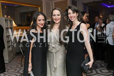 Charlie Lefkowitz, Sara Lange, Amanda Cutright. Photo by Tony Powell. 10th Annual Teach for America Gala. Ritz Carlton. February 26, 2020