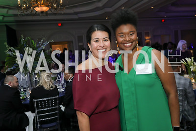 Adele Fabrikant, Duanecia. Photo by Tony Powell. 10th Annual Teach for America Gala. Ritz Carlton. February 26, 2020