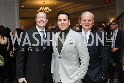 Barry Dixon, Will Thomas, David Deckelbaum. Photo by Tony Powell. 10th Annual Teach for America Gala. Ritz Carlton. February 26, 2020