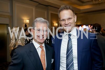 Jeff Weiss, Scott Jaeckel. Photo by Tony Powell. 10th Annual Teach for America Gala. Ritz Carlton. February 26, 2020