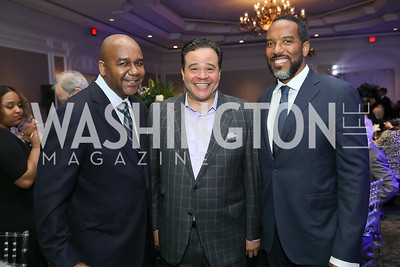 John Thompson, Ernie Jarvis, Maurice Bellen. Photo by Tony Powell. 10th Annual Teach for America Gala. Ritz Carlton. February 26, 2020