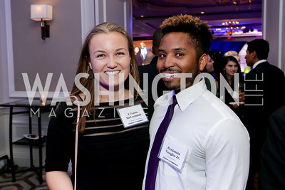 Corps Member Juliana McCormick, 2015 Corps Member Benjamin Vaughn. Photo by Tony Powell. 10th Annual Teach for America Gala. Ritz Carlton. February 26, 2020