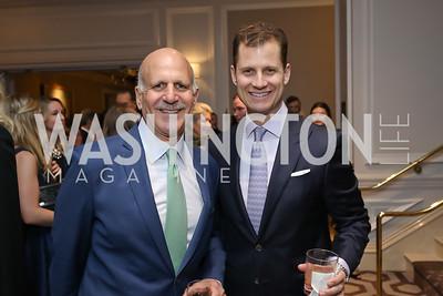 Dave Dorros, John Cecchi. Photo by Tony Powell. 10th Annual Teach for America Gala. Ritz Carlton. February 26, 2020