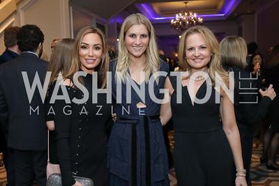 Kristin Cecchi, Ashley Bronczek, Jamie Dorros. Photo by Tony Powell. 10th Annual Teach for America Gala. Ritz Carlton. February 26, 2020