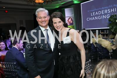 Mark Lowham, Allison Crampton. Photo by Tony Powell. 10th Annual Teach for America Gala. Ritz Carlton. February 26, 2020