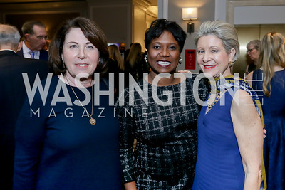 Joey Sloter, Monica Thompson, Christie Weiss. Photo by Tony Powell. 10th Annual Teach for America Gala. Ritz Carlton. February 26, 2020