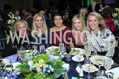 Jean-Marie Fernandez, Ashley Bronczek, Adele Fabrikant, Aimee Burck, Alice Leiter. Photo by Tony Powell. 10th Annual Teach for America Gala. Ritz Carlton. February 26, 2020
