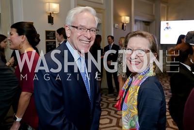 Christopher Ritzert, Annie Boutin King. Photo by Tony Powell. 10th Annual Teach for America Gala. Ritz Carlton. February 26, 2020