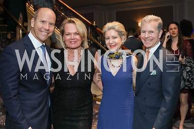 John and April Delaney, Christie and Jeff Weiss. Photo by Tony Powell. 10th Annual Teach for America Gala. Ritz Carlton. February 26, 2020