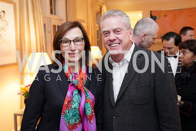 """Monaco Amb. Maguy Maccario Doyle, Theo Adamstein. Photo by Tony Powell. Carder Stout """"Lost in Ghost Town"""" Book Party. March 12, 2020"""