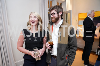 """Carder Stout and Dylan Carrington. Photo by Tony Powell. Carder Stout """"Lost in Ghost Town"""" Book Party. March 12, 2020"""