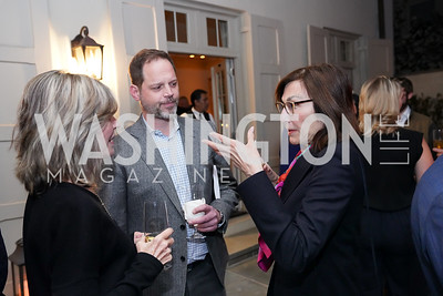 """Kay Kendall, Randolph Adams, Monaco Amb. Maguy Maccario Doyle. Photo by Tony Powell. Carder Stout """"Lost in Ghost Town"""" Book Party. March 12, 2020"""