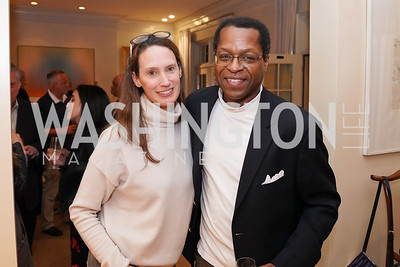 """Lyn Stout, Bill Batts. Photo by Tony Powell. Carder Stout """"Lost in Ghost Town"""" Book Party. March 12, 2020"""