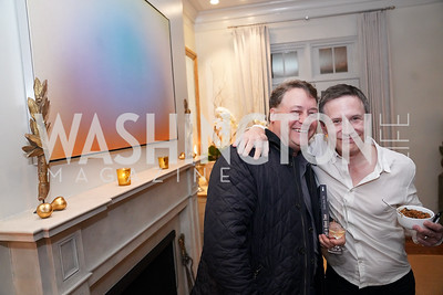"""Robert Rosenstein, Carder Stout. Photo by Tony Powell. Carder Stout """"Lost in Ghost Town"""" Book Party. March 12, 2020"""