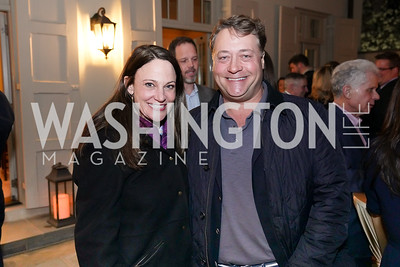 """Jean Harvey and Robert Rosenstein. Photo by Tony Powell. Carder Stout """"Lost in Ghost Town"""" Book Party. March 12, 2020"""
