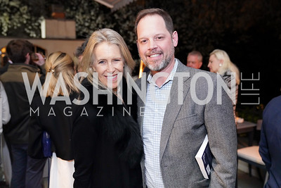 """Leslie Morgansteiner, Randolph Adams. Photo by Tony Powell. Carder Stout """"Lost in Ghost Town"""" Book Party. March 12, 2020"""