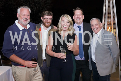 """Kevin McDonnell, Dylan Carrington, Carder Stout, Walter Springman, Ric Marino. Photo by Tony Powell. Carder Stout """"Lost in Ghost Town"""" Book Party. March 12, 2020"""
