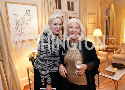 """Christine Warnke, Kandy Stroud. Photo by Tony Powell. Carder Stout """"Lost in Ghost Town"""" Book Party. March 12, 2020"""
