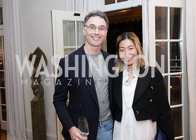 """Colin Shah, Angie Kang. Photo by Tony Powell. Carder Stout """"Lost in Ghost Town"""" Book Party. March 12, 2020"""