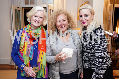 """Caroline Croft, Tamara Buchwald, Christine Warnke. Photo by Tony Powell. Carder Stout """"Lost in Ghost Town"""" Book Party. March 12, 2020"""