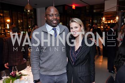 Reggie Love, Kat Conlon. Photo by Tony Powell. DC Central Kitchen Dinner with Ryan Zimmerman. Eaton. January 29, 2020