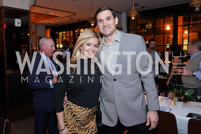 Heather and Ryan Zimmerman. Photo by Tony Powell. DC Central Kitchen Dinner with Ryan Zimmerman. Eaton. January 29, 2020