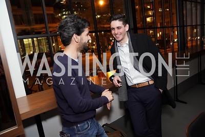 Raphael Gugenheim, Mark Daniel. Photo by Tony Powell. DC Central Kitchen Dinner with Ryan Zimmerman. Eaton. January 29, 2020