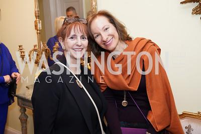 Annie Groer, Lisa Halperin. Photo by Tony Powell. Esther's 90th Birthday Party. January 14, 2020
