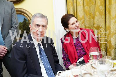 Chuck Robb and Lynda Bird Johnson Robb. Photo by Tony Powell. Esther's 90th Birthday Party. January 14, 2020