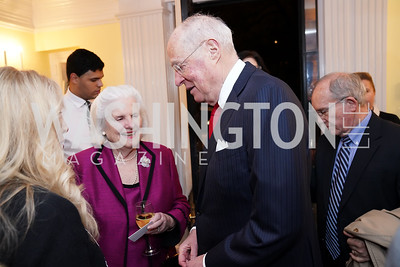 Mary Kennedy and Justice Anthony Kennedy. Photo by Tony Powell. Esther's 90th Birthday Party. January 14, 2020