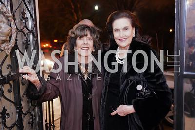 DeDe Cutler, Alexandra de Borchgrave. Photo by Tony Powell. Esther's 90th Birthday Party. January 14, 2020