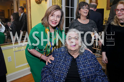 Speaker Nancy Pelosi, Esther Coopersmith. Photo by Tony Powell. Esther's 90th Birthday Party. January 14, 2020