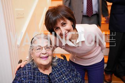 Esther Coopersmith, Jordan Amb. Dina Kawar. Photo by Tony Powell. Esther's 90th Birthday Party. January 14, 2020
