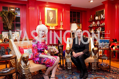 Diane Rehm, Lucky Roosevelt. Photo by Tony Powell. Esther's 90th Birthday Party. January 14, 2020