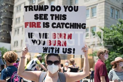 Police Brutality Protest 16. Photo by Yasmin Holman. Washington DC. June 5, 2020.