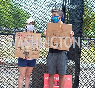 Police Brutality Protest 13. Photo by Yasmin Holman. Washington DC. June 5, 2020.
