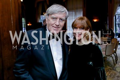 Ireland Amb. Daniel Mulhall, Susan Davis. Photo by Tony Powell. The Roman Gala. Army Navy Club. March 9, 2020