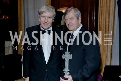 Ireland Amb. Daniel Mulhall, Joe Cairo. Photo by Tony Powell. The Roman Gala. Army Navy Club. March 9, 2020