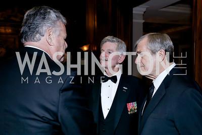 Rep. Peter King, Jim Nicholson, Joe Cairo. Photo by Tony Powell. The Roman Gala. Army Navy Club. March 9, 2020