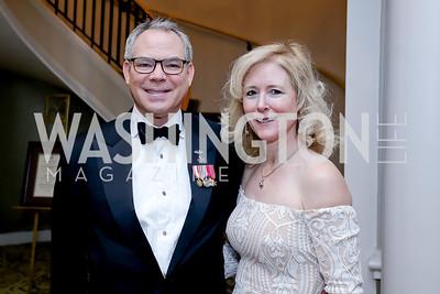Bert Mizusawa, Amy Shafer. Photo by Tony Powell. The Roman Gala. Army Navy Club. March 9, 2020