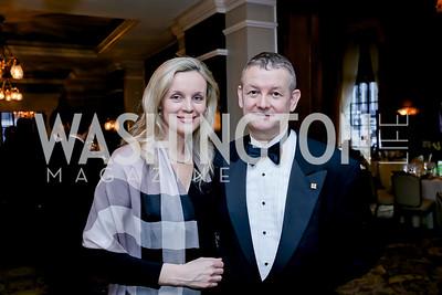 Monika and Marek Chodakiewicz. Photo by Tony Powell. The Roman Gala. Army Navy Club. March 9, 2020