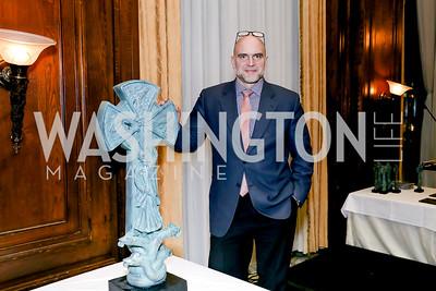 Sculptor Timothy Schmaiz. Photo by Tony Powell. The Roman Gala. Army Navy Club. March 9, 2020